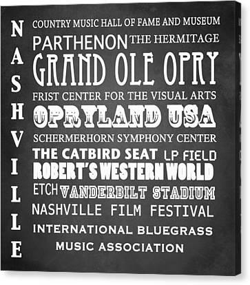 Nashville Famous Landmarks Canvas Print by Patricia Lintner