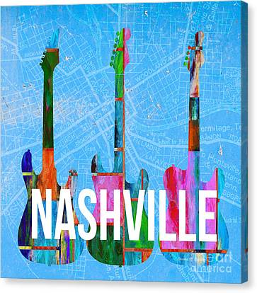 Nashville Guitars Canvas Print by Edward Fielding