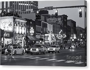 Nashville Honky-tonk District II Canvas Print by Clarence Holmes