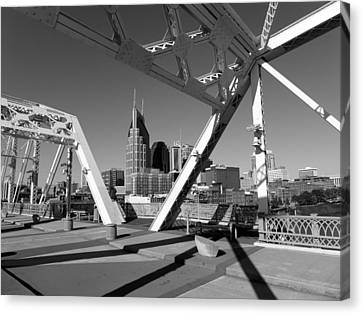 Canvas Print Featuring The Photograph Nashville By Keith McGill