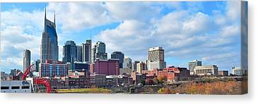 Nashville Panorama View Canvas Print by Frozen in Time Fine Art Photography