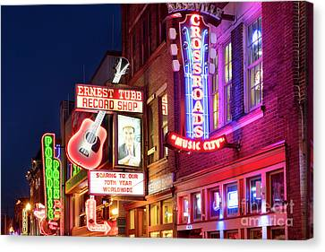 Canvas Print featuring the photograph Nashville Signs by Brian Jannsen