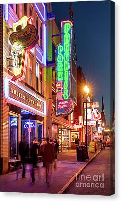 Canvas Print featuring the photograph Nashville Signs II by Brian Jannsen