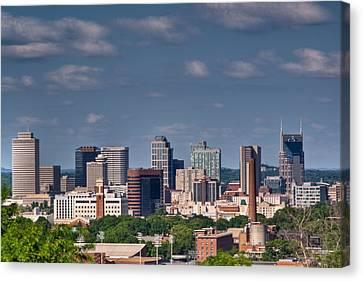 Nashville Skyline 1 Canvas Print by Douglas Barnett