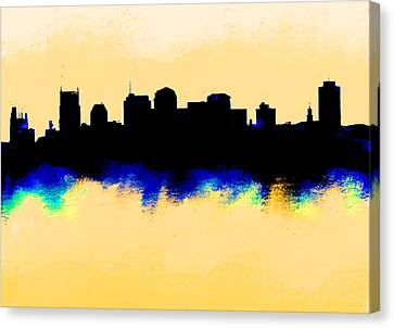 Nashville  Skyline  Canvas Print by Enki Art