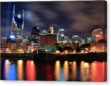 Nashville Skyline Canvas Print by Frozen in Time Fine Art Photography