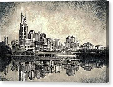 Nashville Skyline II Canvas Print by Janet King