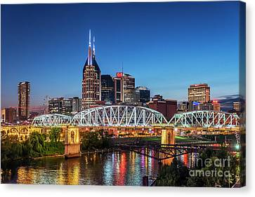 Nashville Tennessee Canvas Print - Nashville Skyline by John Greim