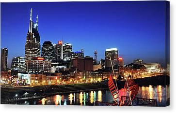 Nashville Skyline Canvas Print - Nashville Skyline by Giffin Photography
