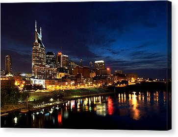 Nashville Skyline Canvas Print by Mark Currier