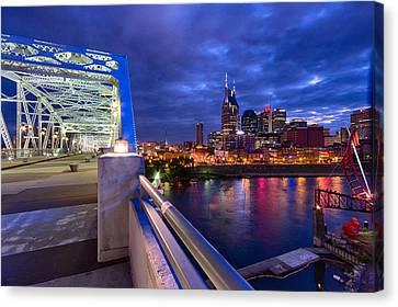 Nashville Tennessee Canvas Print - Nashville Skyline by Mike Burgquist