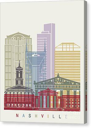 Nashville Skyline Poster Canvas Print by Pablo Romero