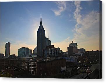 Nashville Skyline Canvas Print by Susanne Van Hulst