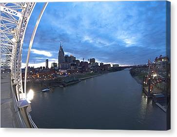 Nashville Skyline Canvas Print - Nashville Skyline by Sven Brogren