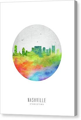 Nashville Skyline Canvas Print - Nashville Skyline Ustnna20 by Aged Pixel