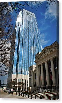 Nashville Skyscraper Canvas Print by Pamela Williams