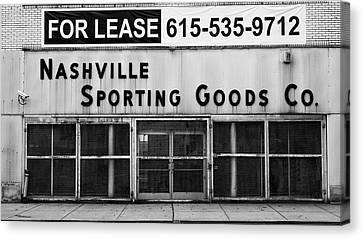 Nashville Sporting Goods Canvas Print by Stephen Stookey