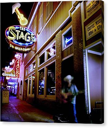 Nashville Canvas Print - Nashville Street Musician by Todd Fox
