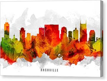 Nashville Tennessee Cityscape 15 Canvas Print