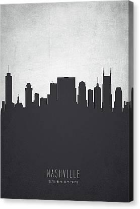 Nashville Skyline Canvas Print - Nashville Tennessee Cityscape 19 by Aged Pixel