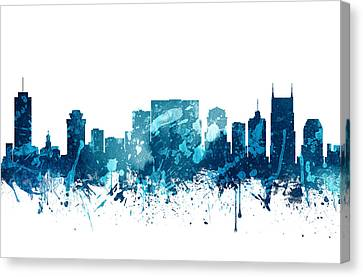 Nashville Tennessee Skyline 19 Canvas Print by Aged Pixel