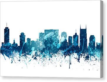 Nashville Skyline Canvas Print - Nashville Tennessee Skyline 19 by Aged Pixel