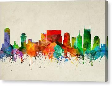 Nashville Skyline Canvas Print - Nashville Tennessee Skyline 22 by Aged Pixel