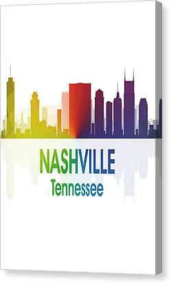 Nashville Tn 1 Vertical Canvas Print by Angelina Vick
