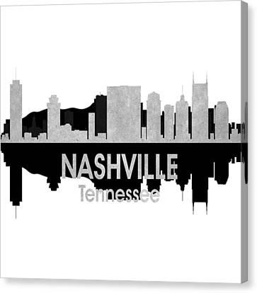 Nashville Tn 4 Squared Canvas Print by Angelina Vick
