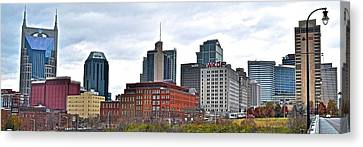 Nashville Wide Angle View Canvas Print by Frozen in Time Fine Art Photography