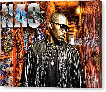 Nasir Jones Canvas Print by The DigArtisT