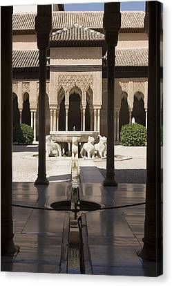 Nasrid Palaces Alhambra Granada Spain Europe Canvas Print by Mal Bray