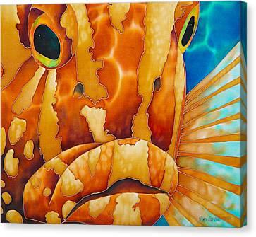 Nassau Grouper  Canvas Print by Daniel Jean-Baptiste