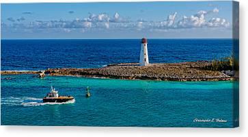 Nassau Harbor Lighthouse Canvas Print by Christopher Holmes
