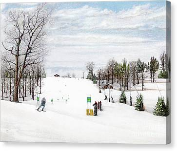 Nastar At Seven Springs Mountain Resort Canvas Print by Albert Puskaric