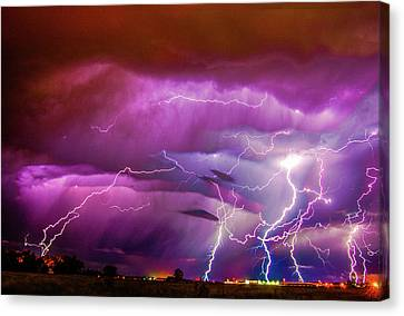 Nasty But Awesome Late Night Lightning 008 Canvas Print