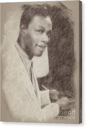 Noir Canvas Print - Nat King Cole, Singer by Frank Falcon