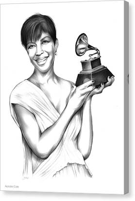 Natalie Cole Canvas Print by Greg Joens