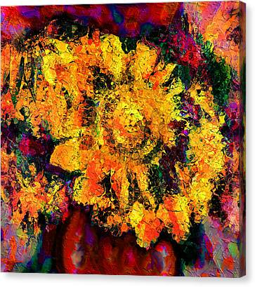 Reds Of Autumn Canvas Print - Natalie Holland Sunflowers by Natalie Holland