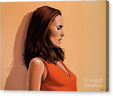 Natalie Portman 2 Canvas Print by Paul Meijering