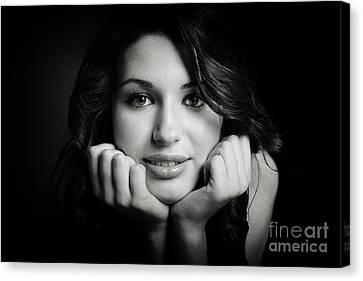 Nataliya In Black And White 10008ml Canvas Print by Colin Cuthbert