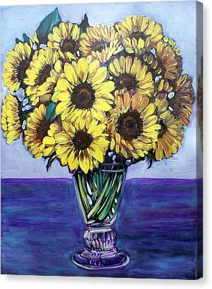 Natasha's Sunflowers Canvas Print by Sheila Tajima