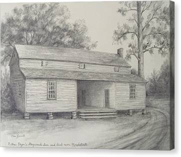 Nathan Bryan's Stagecoach Inn And Bank Near Marshallville Canvas Print