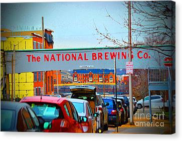 National Brewing Company Canvas Print by Jost Houk