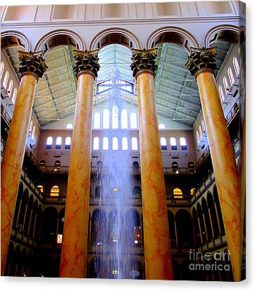 National Building Museum 3 Canvas Print by Randall Weidner