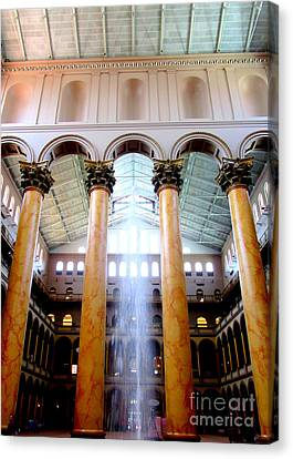 National Building Museum 4 Canvas Print by Randall Weidner