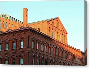 The National Building Museum In Washington Canvas Print by Cora Wandel