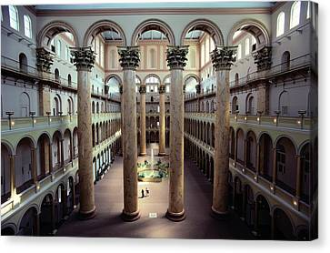 National Building Museum Interior Canvas Print by Sisse Brimberg