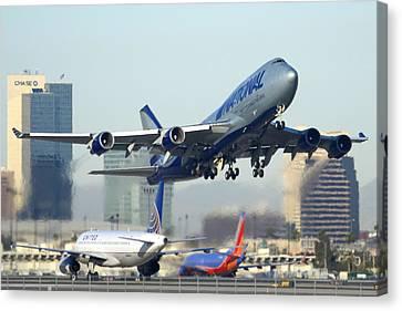 National Cargo Boeing 747-428 Bcf Phoenix Sky Harbor Arizona December 23 2011 Canvas Print by Brian Lockett
