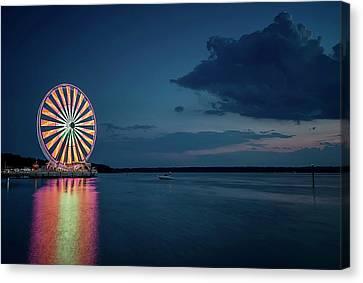 National Harbor Ferris Wheel Canvas Print